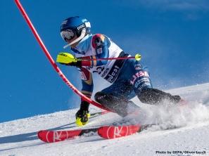 DAVOS,SWITZERLAND,31.JAN.18 - ALPINE SKIING - FIS Alpine Junior World Ski Championships Davos 2018, slalom, ladies. Image shows Katie Hensien (USA). Photo: GEPA pictures/ Oliver Lerch